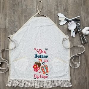 HANDMADE (by me) APRON Life's Better At The Beach
